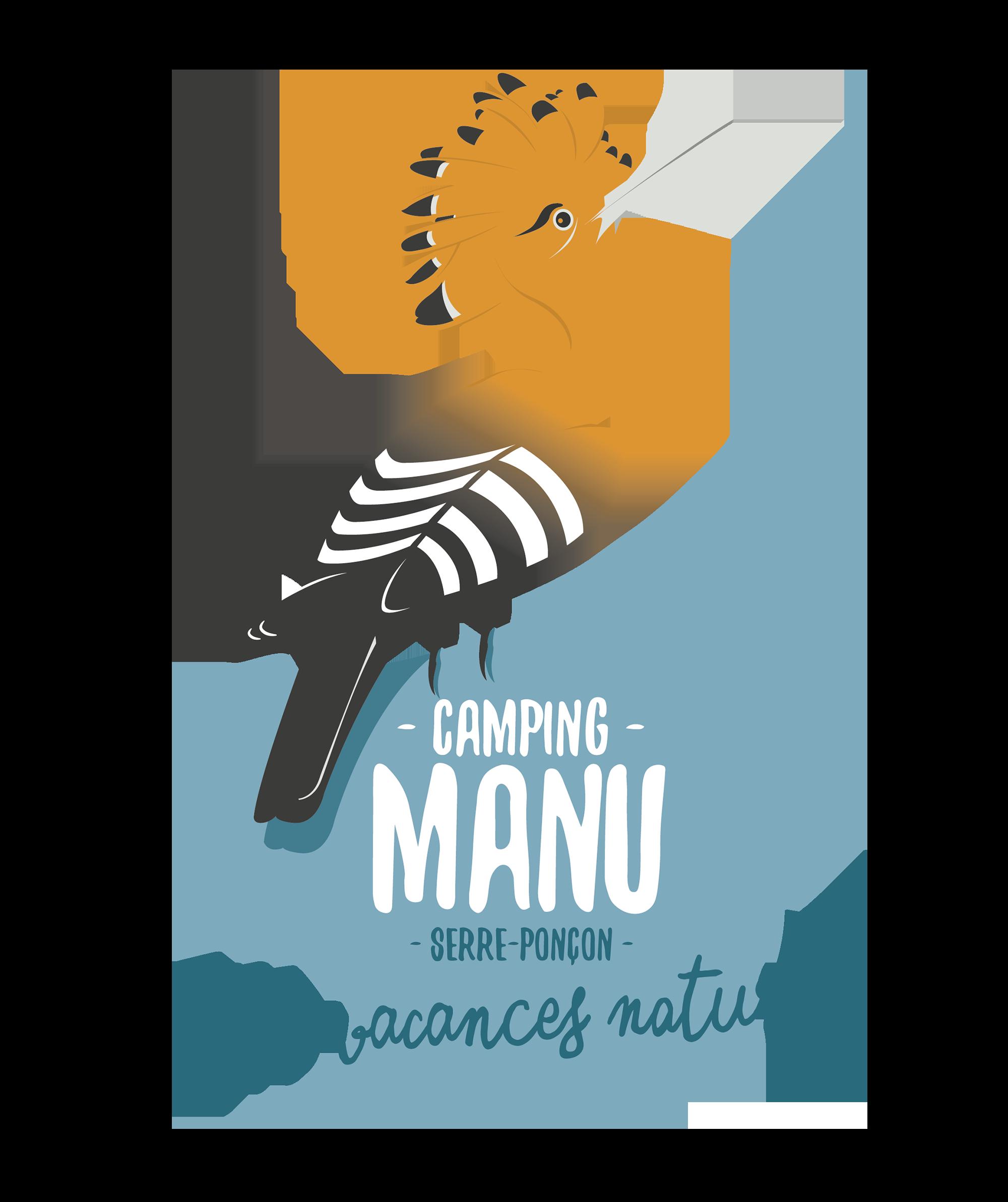 Camping Manu – Emplacements et location de mobilhomes au lac de Serre Ponçon – Hautes Alpes Logo